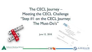 "Watch:  The CECL Journey  -  ""Step # 1:   The Must-Dos"""
