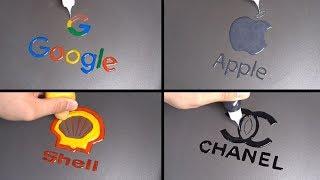 Brand Logos Pancake Art - Google, Apple, Shell, Chanel