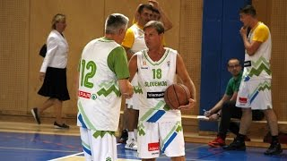 Košarkarska tekma med predstavniki vlade in Pomurja