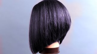 HOW TO CUT LONG BOB HAIRCUT TUTORIAL STEP BY STEP FOR BEGINNERS, CARRE PLONGEANT COUPE#BOBHAIRCUT