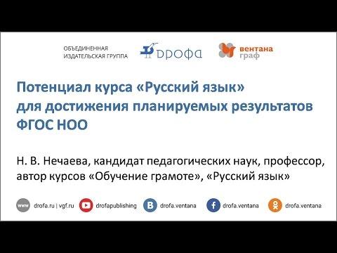 Потенциал курса «Русский язык» для достижения планируемых результатов ФГОС НОО