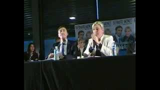 preview picture of video 'Marine Le Pen et Bernard Monot le 19 avril 2014 à Brive'