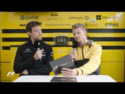 Renault's Nico Hulkenberg And Jolyon Palmer | F1 Grill The Grid 2017