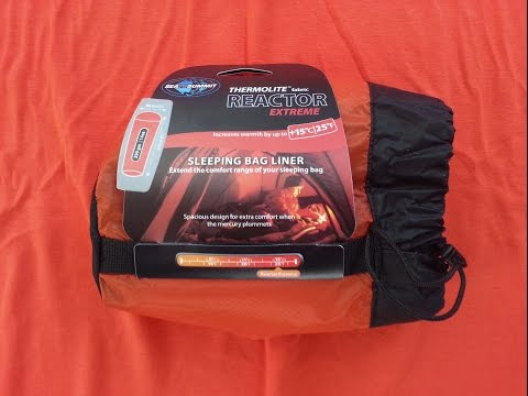 Sea to Summit Thermolite Reactor Extreme Mummy Bag Liner Unboxing