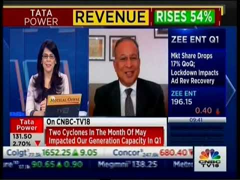 Dr Praveer Sinha, CEO & MD, Tata Power discusses the Tata Power Q1 FY2022 results with CNBC TV18