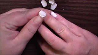 Peeling Massive Layers of Junk Off My Nails - Almost ASMR (lol)