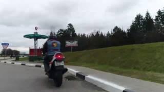 Открытие мотосезона 2017. Проезд колонны байкеров от Кургана Славы по М2