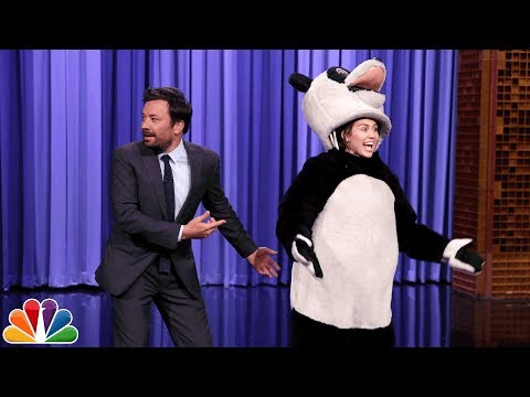 Miley Cyrus Takes over The Tonight Show Cold Open and Hashtag the Panda