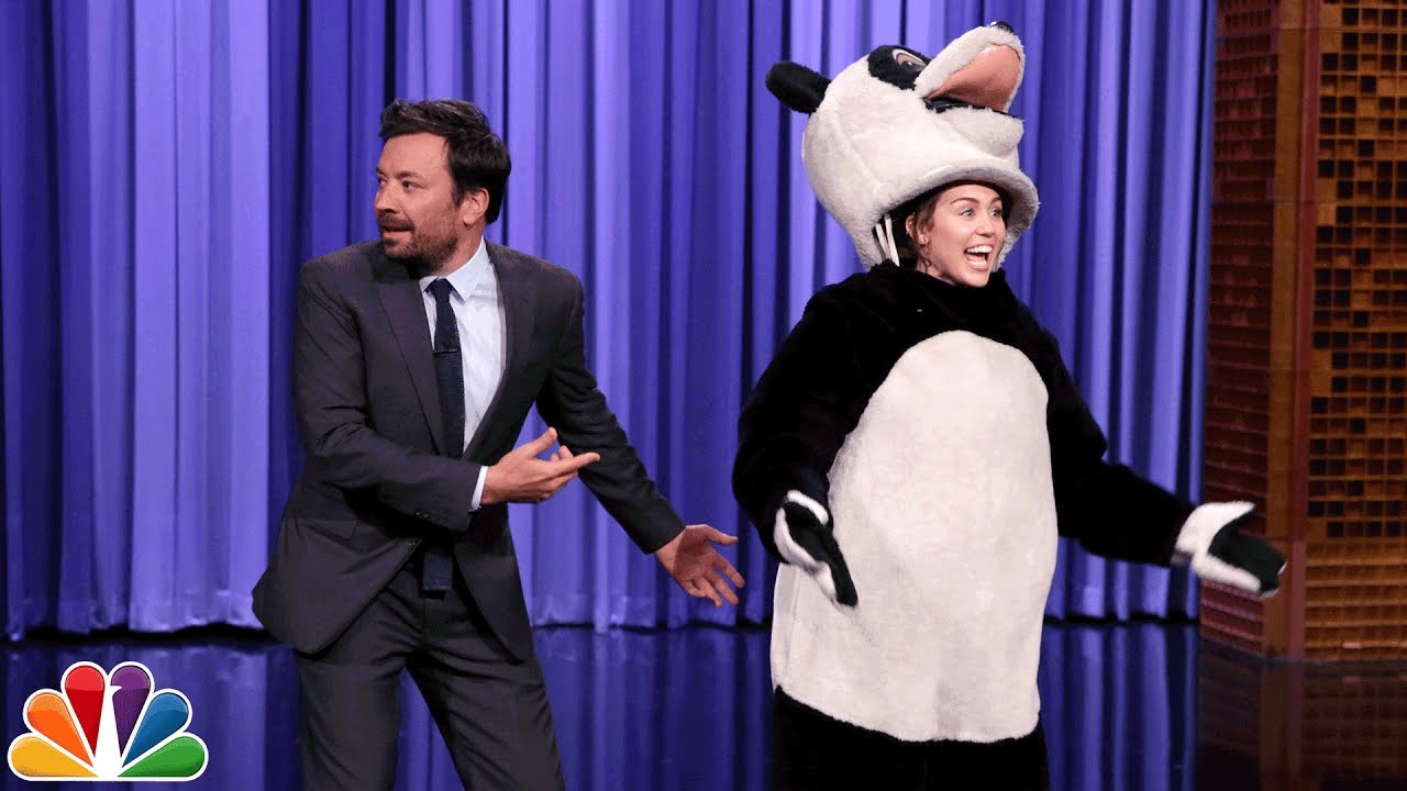 Miley Cyrus Takes over The Tonight Show Cold Open and Hashtag the Panda thumbnail