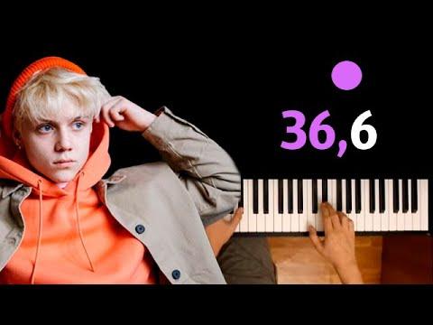 Ваня Дмитриенко - 36,6 ● караоке | PIANO_KARAOKE ● ᴴᴰ + НОТЫ & MIDI