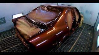 Восстановление BMW E34 Покраска  ( 3 Часть ) !