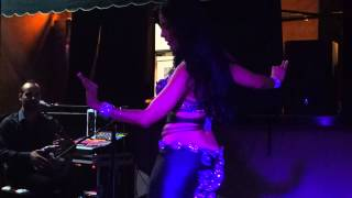 Luisa Cordero dancing to live music at  Golden Nights in Buena Parks California 7 /19/ 14