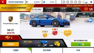 Asphalt 8, Porsche Cayman GT4 Championship, first stage and upgrading MAX
