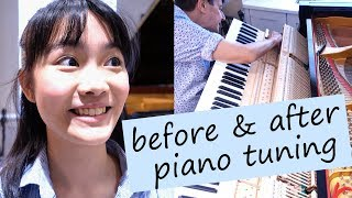 Can You Hear the Difference Between Before & After Piano Tuning? | Tiffany Vlogs #21