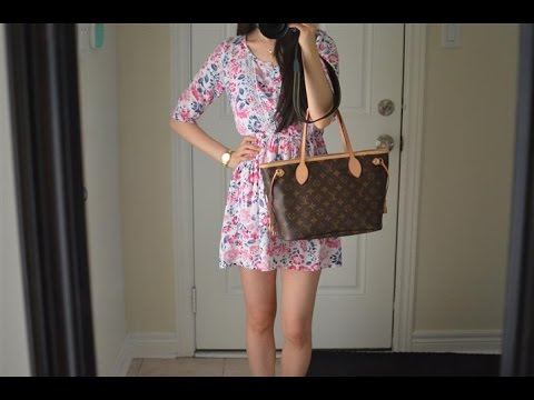OOTD feat. the Louis Vuitton Neverfull PM Monogram Purse Bag + Mini Review