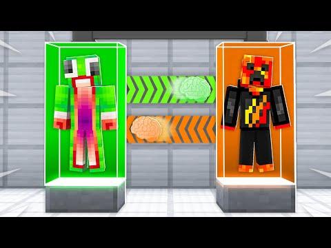 I Transformed into Unspeakable! (Minecraft Brain Swap)