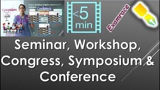 Seminar, Workshop, Congress, Symposium & Conference - Teaching Aptitude