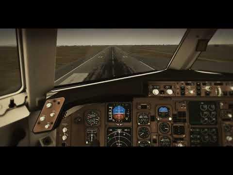 First Test Landing - Flight Factor 767 at X Plane 11 - смотреть