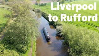 Liverpool to the Rufford Branch by Narrowboat. Wet Dogs and Broken Bridges!