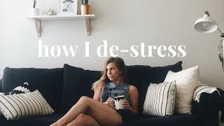 How I De-Stress & Relax | My Weekly Routine for Stress | Acupuncture, Journaling, and more!