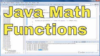 Java Tutorial - 16 - Using Pi and E in Calculations (Math Functions)