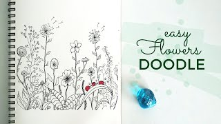 How To Doodle Flowers    Floral Doodle    Learn To Doodle