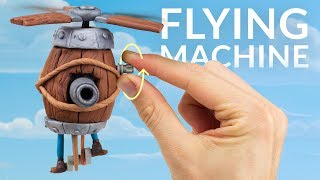Flying Machine (Clash Royale) – Polymer Clay / Lego Technic Tutorial