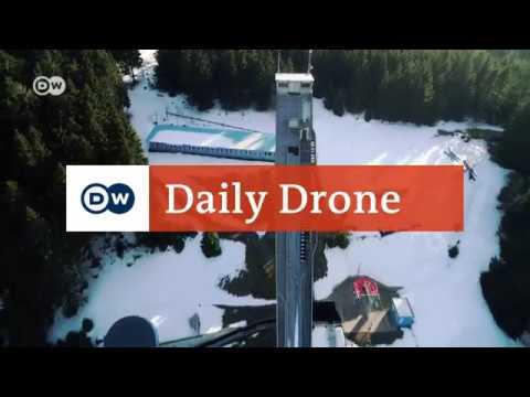 #DailyDrone: The Kanzlersgrund ski jump, Oberhof | DW English