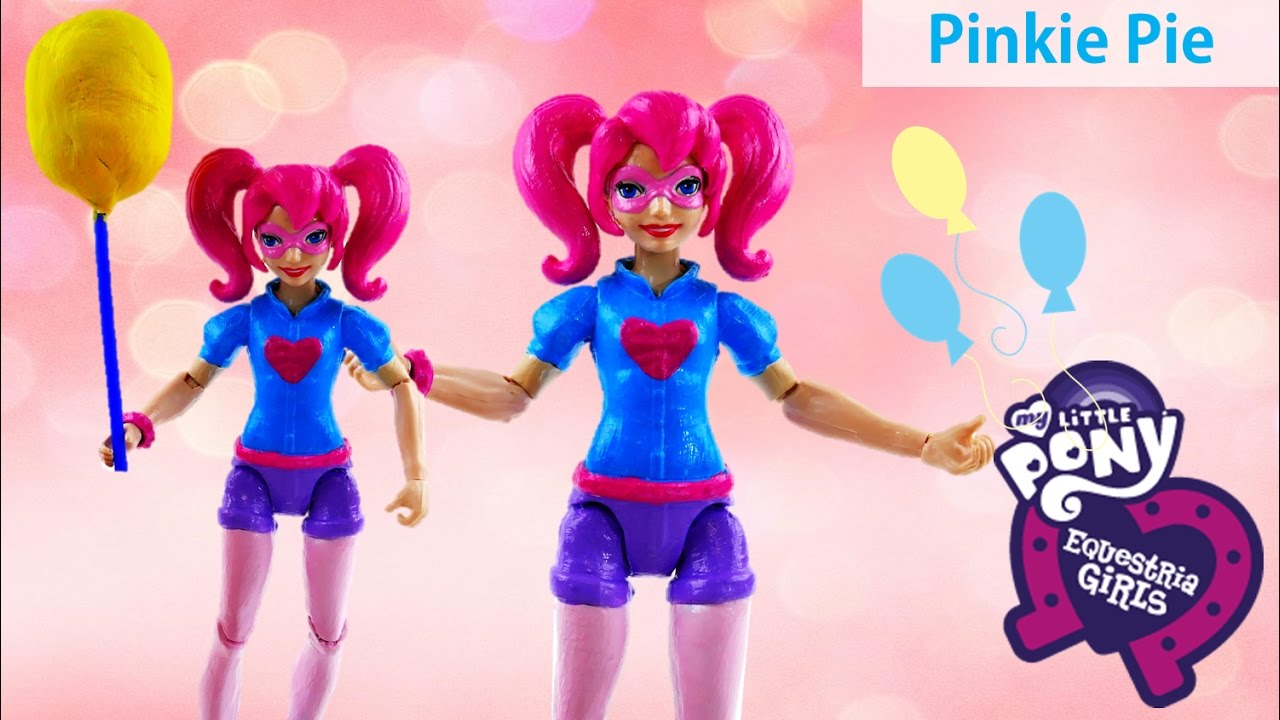 DC Super Hero Girls Harley Quinn Transforms into My Little Pony Pinkie Pie Doll Custom Makeover