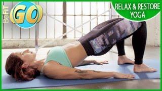 放鬆和恢復瑜伽鍛煉手機:15分鐘BeFiT GO 出處 BeFiT