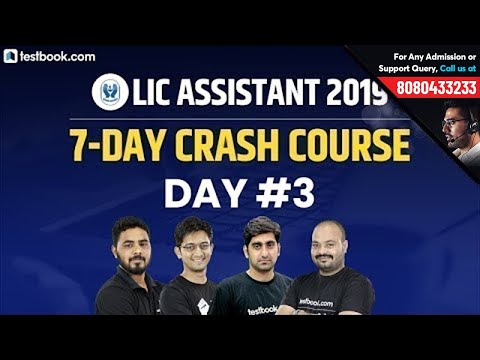 LIC Assistant Prelims Crash Course   Day 3   LIC Assistant Reasoning, Math, English & Hindi Classes