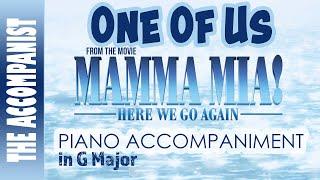 One Of Us   From The Movie Mamma Mia Here We Go Again   Piano Accompaniment   Karaoke