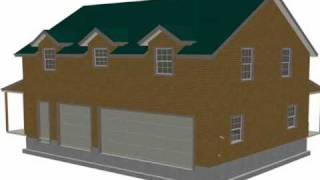 #G445 Plans, 40x30 X 10 Garage With Bonus Apartment