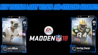 New Legends Larry Wilson and Sterling Sharpe, as well as new veterans players and lineup update!