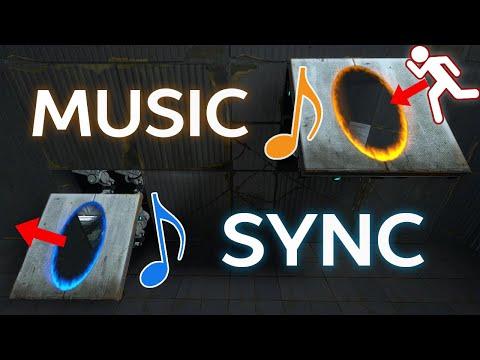 If Portal 2 was a Rhythm Game (Synchronized Music Map)