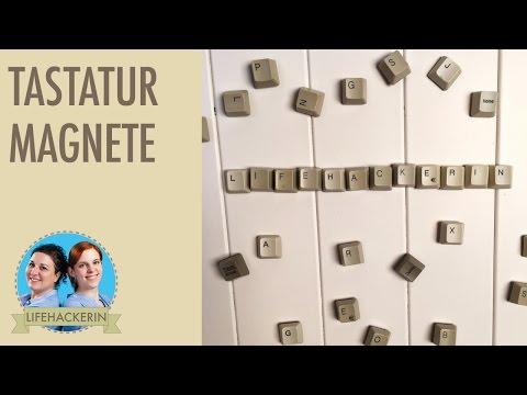 Computer-Tastatur als Kühlschrank-Magnete I DIY