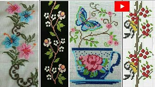 New & Latest Cross Stitch Or Dosuti Design || Beautiful Table Cloth Border And Middle Design