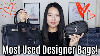 My Most Used Designer Bags 2020 | Louis Vuitton, Hermès, YSL Etc!
