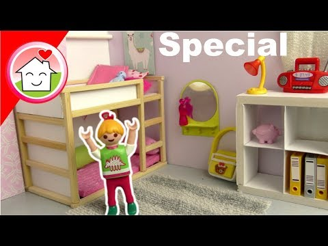 Playmobil IKEA Kinderzimmer für Lena - Pimp my PLAYMOBIL Familie Hauser - Dollhouse DIY for kids