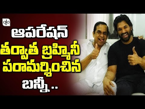 Allu Arjun Meets Brahmanandam In Hospital | Telugu Comedian Brahmanandam Health Latest News | ALO TV