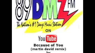 89 DMZ Because Of  You (martin david remix) by 98 degrees