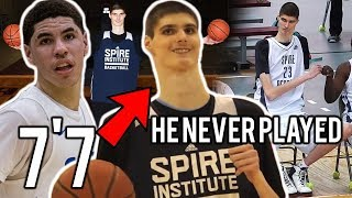 "What Happened To LaMelo Ball's 7'7"" Teammate Robert Bobroczky at Spire! ""He NEVER PLAYED!"""