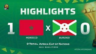 Qualif. CAN 2021   Groupe E :  Maroc 1-0 Burundi