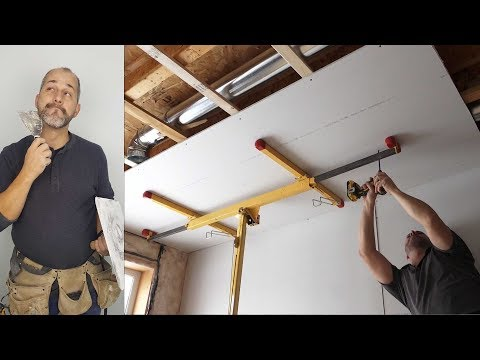 How To Install Ceiling Drywall Using A Panel Lift