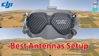 Testing The Best Antennas Configuration For The DJI FPV V2 Goggles