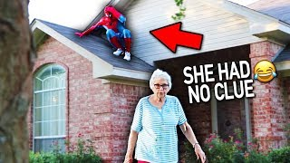 SPIDERMAN DING DONG DITCH PRANK!! (this didn't end well)