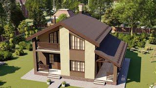 Проект дома 125-C, Площадь дома: 125 м2, Размер дома:  8,7x9,6 м