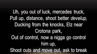 French Montana Once in a While ft. Max B (Lyrics on screen)