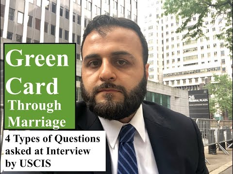 Green Card Marriage Interview Questions (I-130 & I-485)