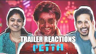 Petta Trailer Reaction  Review | Jodi Reactions! | Superstar Rajinikanth | Karthik Subbaraj (Tamil)